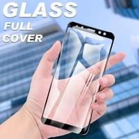 Cubierta completa de vidrio Protector para Samsung Galaxy A9 Pro A8 A6 Plus A7 A5 A3 2017 2018 película protectora de pantalla de vidrio templado
