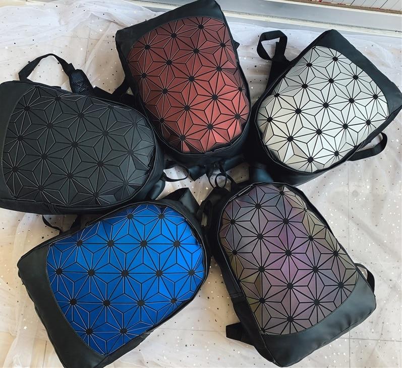 Women Geometric Laptop Backpacks For Men Shoulder Backpack Folding Student School Bags For Teenage Girl Hologram Backpack