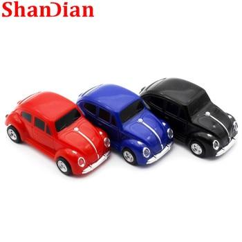 SHANDIAN  mini Beetle Car Model pendrive 4GB 8GB 16GB 32GB USB Flash drive memory stick pen drive Gift U disk free shipping