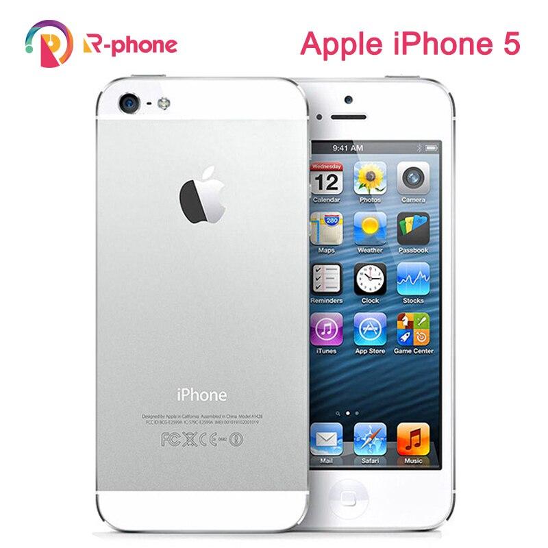 """Desbloqueado original apple iphone 5 gsm 3g telefone móvel 16 gb 32 gb 64 gb rom wifi 8mp 4.0 """"ios 8.0 usados celulares"""