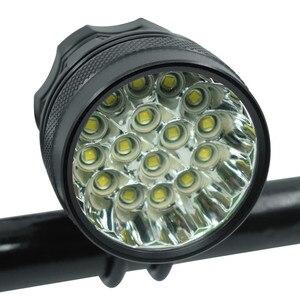 40000 лм 16 * XML-T6 светодиодный светильник для велосипеда, передний головной светильник для езды на велосипеде, передний светильник, светильник ...
