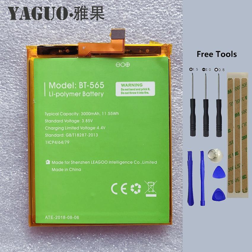 100% Original BT-565&BT-566 3000mAh Battery For Leagoo KIICAA Mix T5 T5C BT565 BT566 Phone Bateria Batterie Baterij + Free Tools