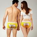 Комплект молодежного нижнего белья для пар, забавные трусы-комбинации с мультяшным принтом, сексуальные хлопковые дышащие трусики для пар, ...