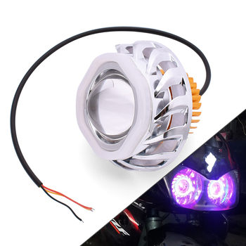Motorcycle LED Headlights Angel Eyes 34W 2000LM Hi/Lo/Strobe Beam Lamp For KTM Duke 125 200 250 390 690 EXC EXCF SX SXF XC XCF image