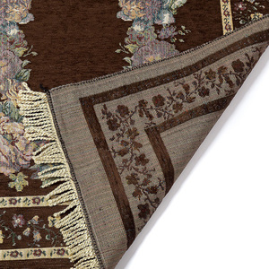 Image 2 - Ev taşınabilir hediyeler katlanır zarif yumuşak Anti kayma dekorasyon yatak odası çiçek halı diz çökmüş hafif seccade pamuk karışımı