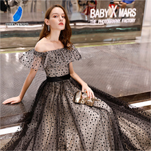DEERVEADO Real Photos A Line Boat Neck Elegant Long Evening Dress Vintage Formal Party Dresses Evening Gown Robe De Soiree YS434