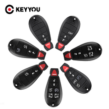 KEYYOU New Car Key Case For Jeep Grand Cherokee Chrysler 300 Town & Country Dodge Challenger Charger Journey Fob