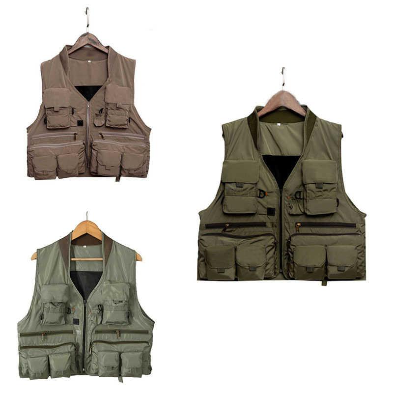 Корейский жилет для рыбалки, Быстросохнущий жилет для кемпинга, рыболовный жилет из дышащего материала, куртка для рыбалки на открытом воздухе, спортивный жилет для выживания