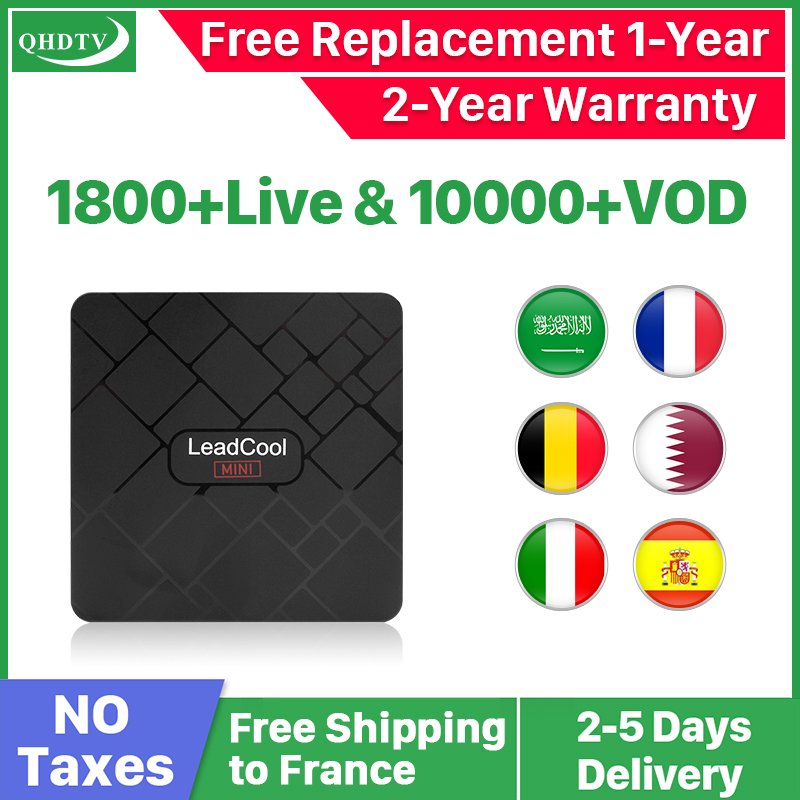 QHDTV IPTV Französisch Arabisch IPTV Abonnement Code Leadcool Mini Android 8,1 IPTV Niederlande Spanien Deutschland Belgien IP TV Frankreich