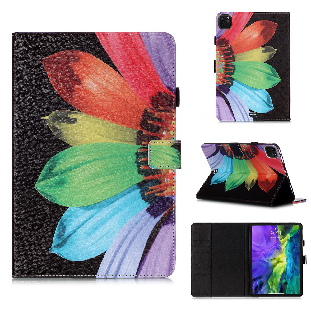 5 Yellow Owl Flowers Tablet Cover For iPad Pro 11 Case 2020 Coque Wallet Stand Tablet Funda For