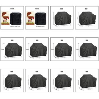 1PC BBQ Cover Outdoor Dust Waterproof Weber Heavy Duty Charbroil Grill Cover Rain Protective Outdoor Barbecue Cover Round Bb 1