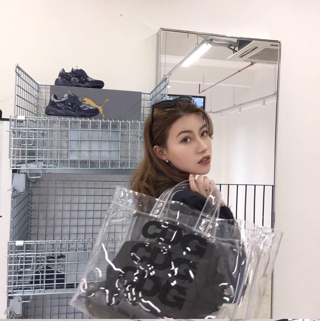 Nouveau Chao marque ouvert Transparent à la main lettre PV grand sac Commuter sac coréen femmes unique épaule sac à main sac