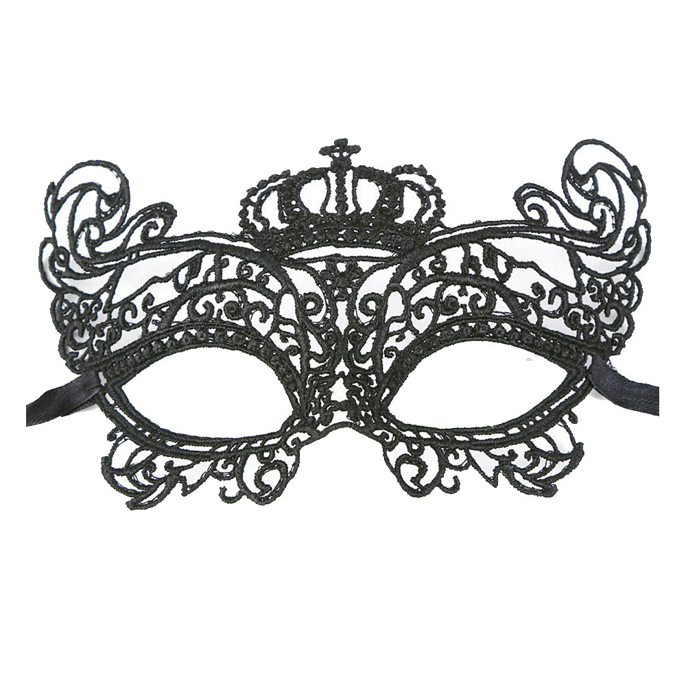 Sexy Elegant Eye Face Mask Masquerade Ball Carnival Fancy Party Black GRS
