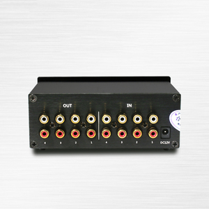 Image 3 - Lusya 4 Input 4 Output Lossless Audio Signal Switcher Switch Splitter Selector DC 12V E4 003