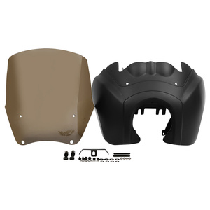 """Image 4 - Motorcycle Front Fairing w/ 15"""" Windshield For Harley Dyna Wide Glide Low Rider Street Bob FXDL FXDXT T Sport"""