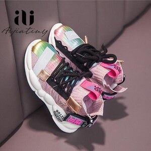 Image 2 - 2020 ฤดูใบไม้ร่วงเด็กรองเท้าผ้าใบสาวรองเท้าเด็กแฟชั่นรองเท้าเด็กสำหรับสาวกีฬารองเท้าวิ่งเด็กรองเท้า Chaussure Enfant