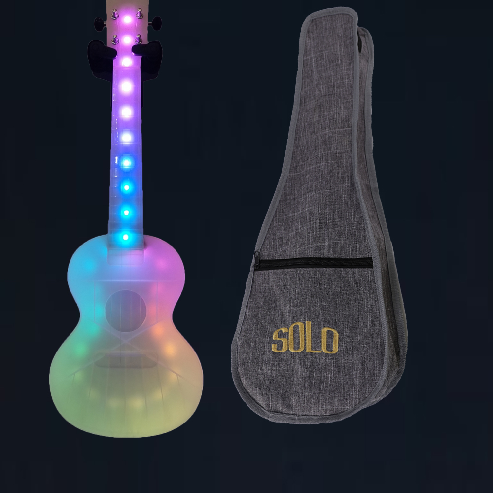 23 Inch Ukulele Concert Unique LED Lighting Smart Ukelele Travel Ukulele Anti-broken Polycarbonate Ukulele With Bag Cable