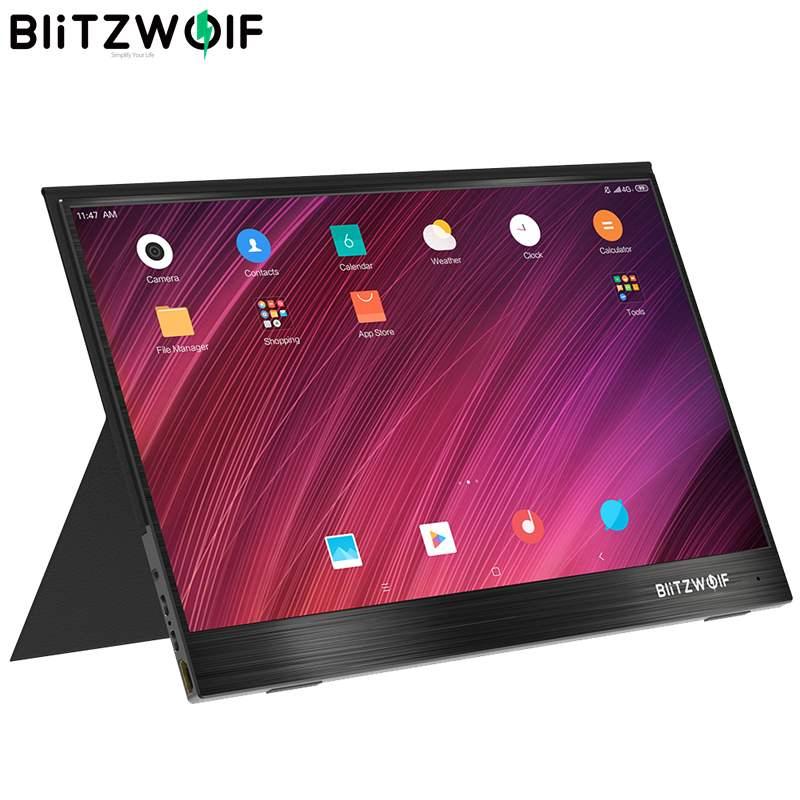 BlitzWolf BW-PCM3 pantalla táctil de 15,6 pulgadas FHD 1080P Tipo C portátil ordenador LCD Monitor Gaming pantalla de visualización para Smartphone portátil
