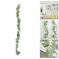 Artificial Eucalyptus Garland Faux Silk Vine Handmade Leaves Greenery 1.8M/5.9Ft Home Decoration Gardening Decoration|Reed Diffuser Sticks| |  -