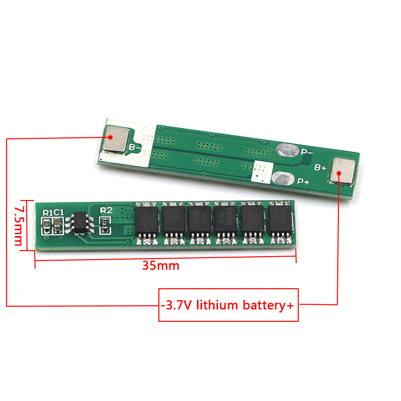 1S 7.5A 10A 15A 3.7V Li-ion 3 4 6MOS BMS PCM Battery Protection Board PCM For 18650 Lithium Lion Battery