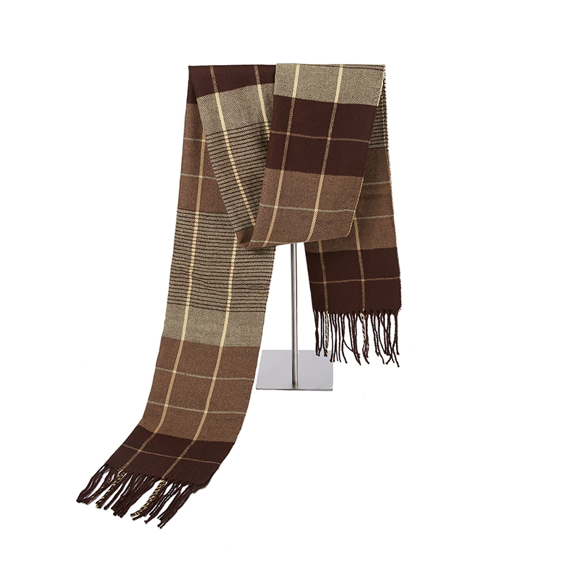 Winter Scarf Men's Warm Foulard Solid Scarves Fashion Casual Scarf Warm Cashmere Men Scarf
