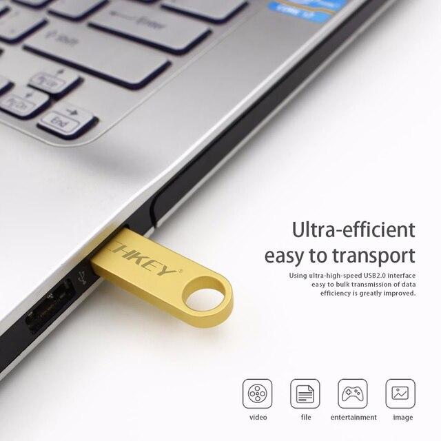 new TECHKEY usb flash drive 64GB 32GB 16GB 8GB 4GB pen drive pendrive флешка waterproof silver u disk memoria cel usb stick gift 3