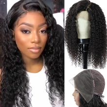 Wig Brazilian Human-Hair Lace Curly with Pre-Plucked Remy Jerry Closure 13x4