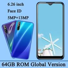 Entsperrt P40 Pro Original Handy 4G RAM 64G ROM Android Gesicht ID Anerkennung 6.26 ''Wasser Tropfen bildschirm Smartphone Handy