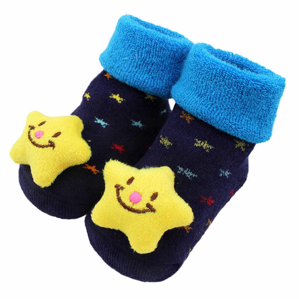 Baby sokken 2020 Nieuw aangekomen Cartoon Pasgeboren Baby Meisjes Jongens Anti-Slip Sokken Slipper Schoenen Laarzen baby meisje kleding sokken # D11