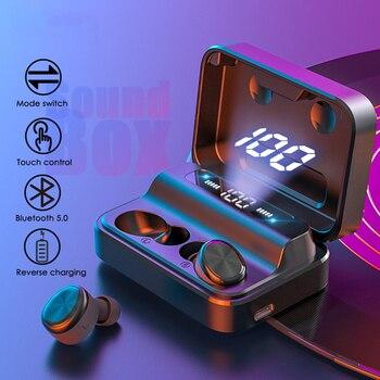 SoundBox Bluetooth 5.0 True Wireless Earbuds Bluetooth Earphones Earphone with Binaural Built-in Microphone and Digital Display