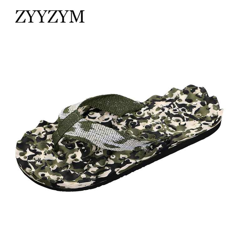 ZYYZYM Men Flip Flops Slippers Summer Unisex Camouflage Anti-skid Outdoor Light Fashion Casual Beach Household Pinch Slipper