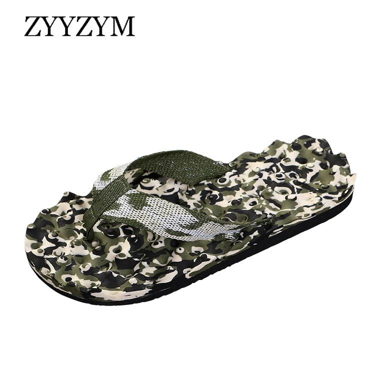 Buy ZYYZYM Men Flip Flops Slippers Summer Unisex Camouflage Anti-skid Outdoor Light Fashion Casual Beach Household Pinch Slipper