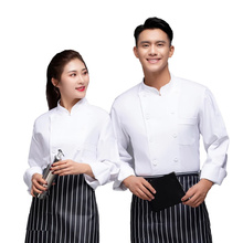 Cook Coat Work-Clothes Pastry Waiter-Uniform Chef Catering Food-Service Long-Sleeve Kitchen