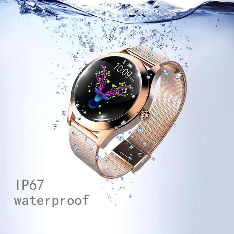 KW10 Donne Astuto Della Vigilanza Lady Fitness Braccialetto Smartwatch Orologio IP68 Impermeabile Heart Rate Monitor per Android Ios Sport Tracker