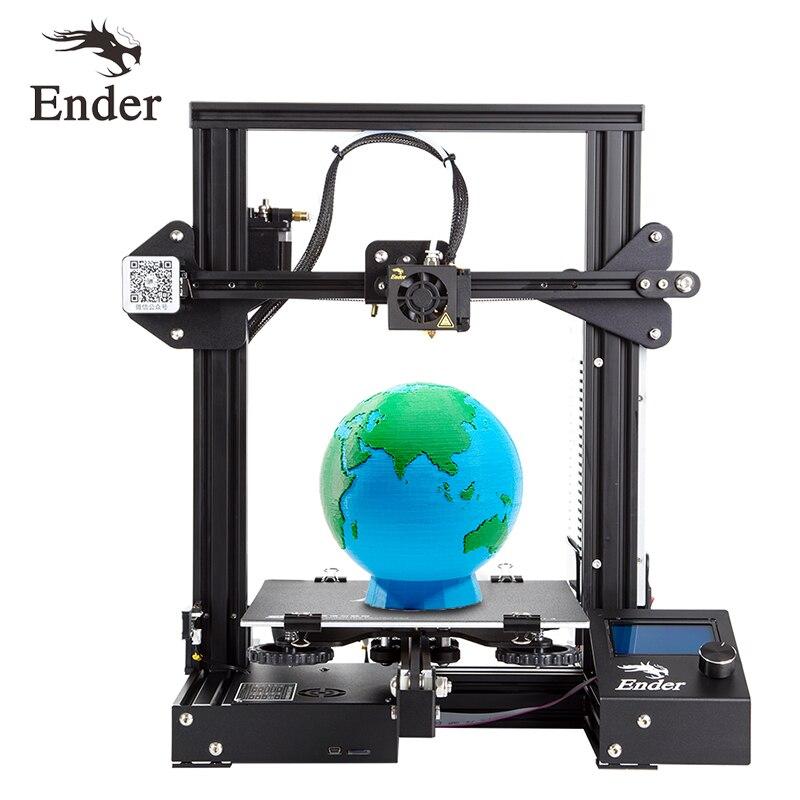 Ender-3 impressora 3d diy kit grande tamanho de impressão prusa i3 impressora 3d ender 3/Ender-3X continuação potência impressão 110 viveiro 220*220*250