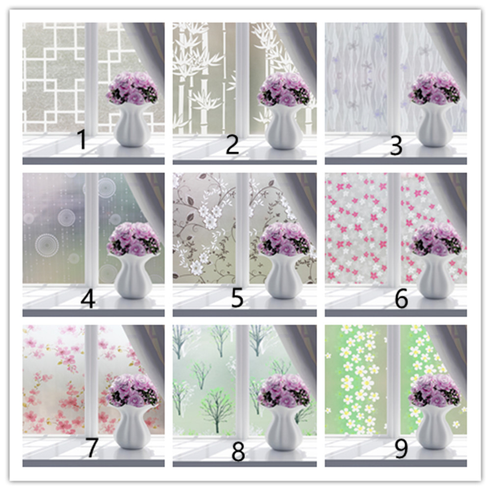 60cm wide * 600cm long film frosted glass bathroom toilet stickers sun cellophane window Anti-Sai translucent opaque