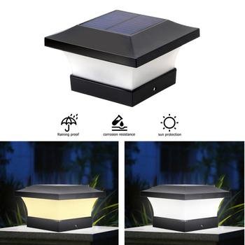 6LED Solar Powered poste tapa de cubierta cuadrado valla paisaje lámpara impermeable IP65 lámpara de paisaje para jardín veiw decoraciones