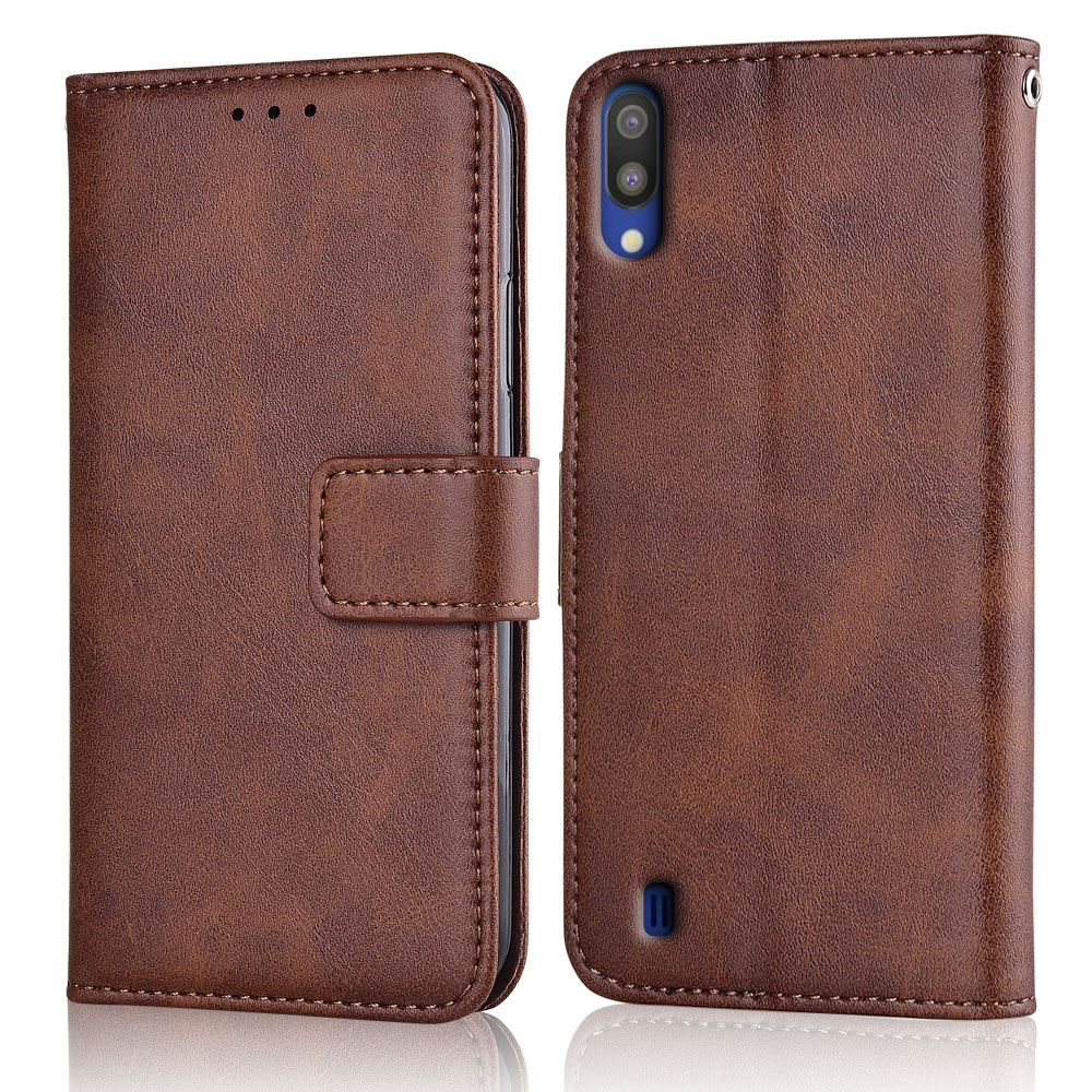 M10 2019 Case Slim Leather Flip Cover for Samsung Galaxy M10 M105F M105F-DS 6.22'' Case Wallet Magnetic case for Samsung M10