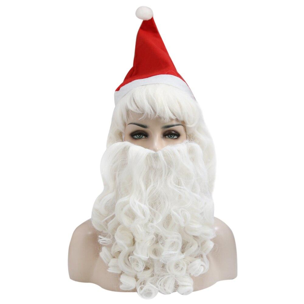 Парик мужской для костюма «Дед Мороз», короткие синтетические волосы, аксессуары для волос, цвет белый, рождественский подарок|Украшения своими руками для вечеринки| | АлиЭкспресс