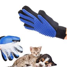 Pet Brush Glove Deshedding Gentle Efficient Dog Cat Grooming Supply Glove Dog Bath Cat Cleaning Supplies Pet Glove Dog Combs(China)