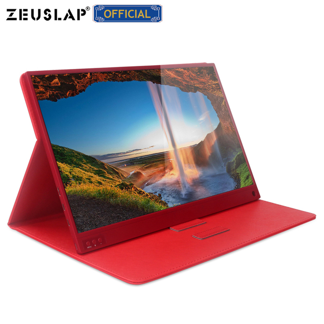 15.6-inch Touching Portable Monitor 1920x1080 FHD HDR IPS Display Gaming Monitor with Leather Case 1