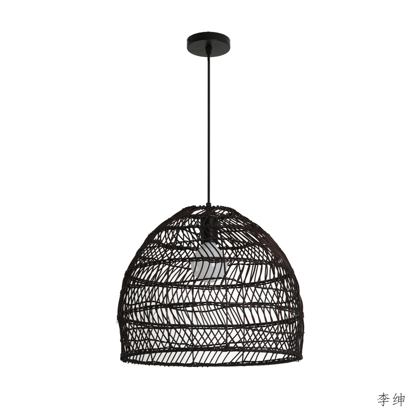 Chinese Hanging Led Pendant Light Bamboo Hand-woven Lampshade Cafe Restaurant Indoor Lighting Pendant Lamp Home Decor Luminaria