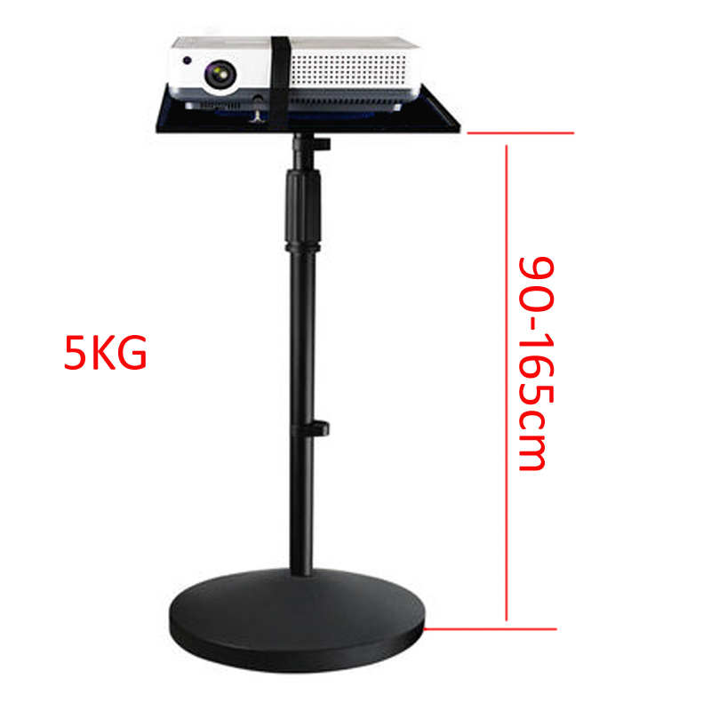 PMA-T3-85160  5KG 850-1650MM Universal Projector Tripod Stand Laptop Floor Holder Height Adjustable With Tray 26x36cm Big Base
