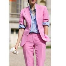 Lucky Pink Lady Women Suit Set 2020 Spring and Autumn Slim P