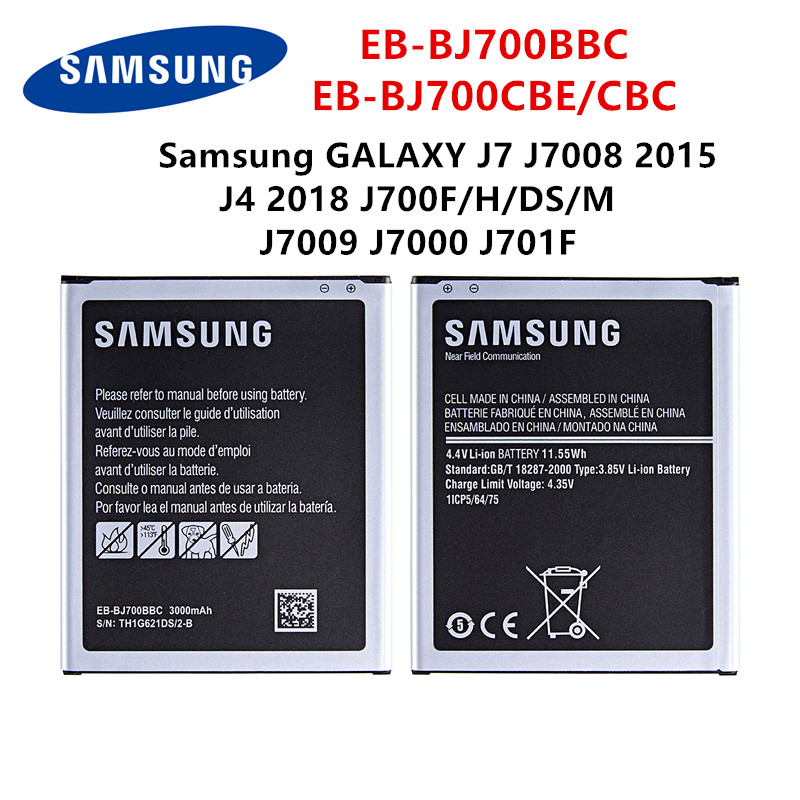 SAMSUNG Orginal EB-BJ700BBC EB-BJ700CBE EB-BJ700CBC 3000mAh Battery For Samsung GALAXY J7 J7008 J4 J700F J7009 J7000 J701F