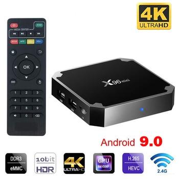 X96 mini Android 9.0 Smart tv box 2.4G Wifi S905W Quad Core 4K 1080P Full HD Netflix Media Player 64 bit X96mini Set-Top Box цена 2017