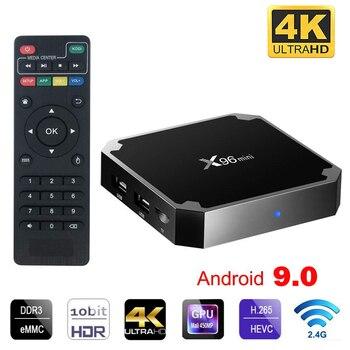 цена на X96 mini Android 9.0 Smart tv box 2.4G Wifi S905W Quad Core 4K 1080P Full HD Netflix Media Player 64 bit X96mini Set-Top Box