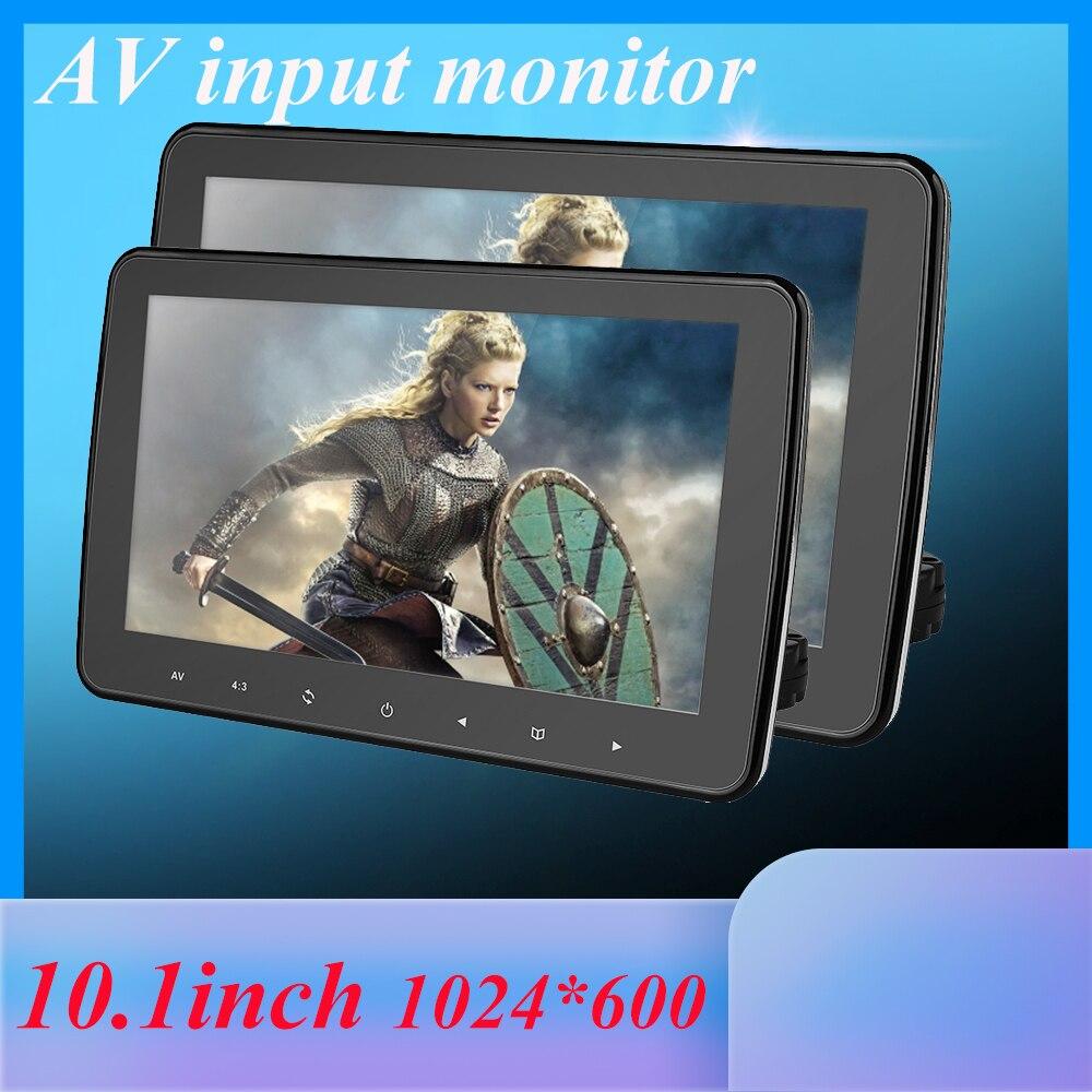 1024x600 10 polegada ultra fino tft lcd encosto de cabeça dvd monitores hd entrada de vídeo rádio av monitor para áudio do carro android dvd player