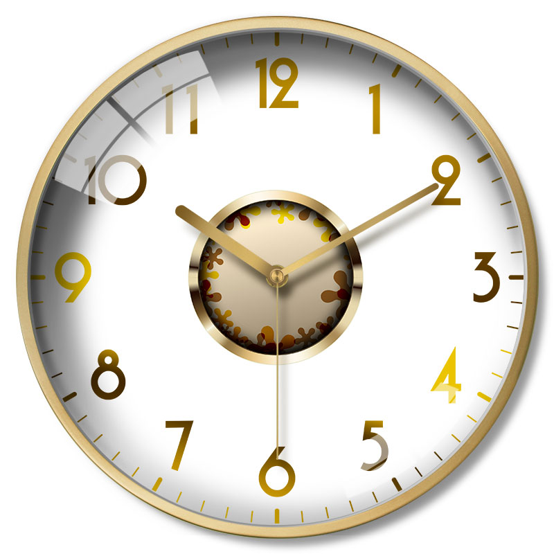 Large Gold White Nordic Wall Clock Glass Bedroom Modern Design Wall Clocks Decorative Thick Watches Wall Watch Decor New II50BGZ