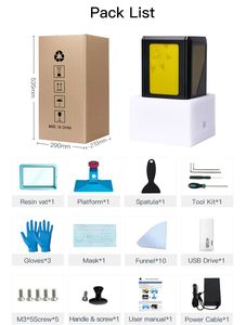 Image 5 - 2019 Anycubic פוטון 3D מדפסת ערכות SLA/LCD דיוק גבוה בתוספת גודל פוטון מבצע אור ריפוי brasil armazém impressora 3d